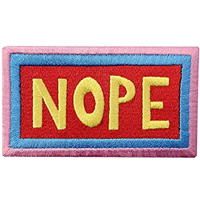 Patches Love Nope Yes Stay Weird Funny Biker Fashion Design Decorative Applique Embroidered Iron On Sew On Emblem