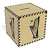 Azeeda Large 'Romantic Harp' Money Box / Piggy Bank (MB00048092)