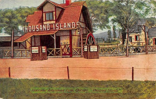 Chicago, Illinois, IL, USA Postcard Riverview Amusement Park, Thousand Islands 1911