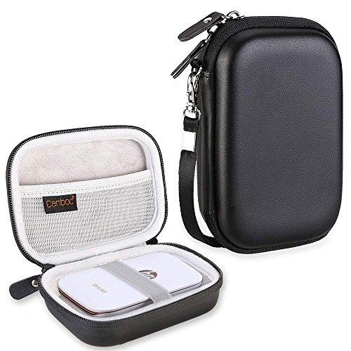 Canboc Shockproof Carrying Case Storage Travel Bag for HP Sprocket Plus Instant Photo Printer, Kodak Mini 2 / Mini Shot Portable Mobile Printer Camera Protective Pouch Box, Black