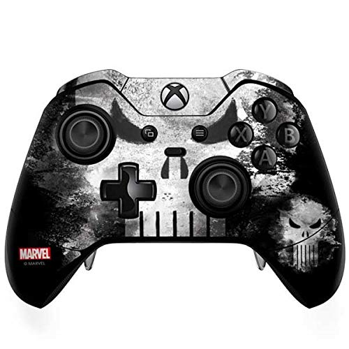 Skinit Punisher Long Skull Xbox One Elite Controller Skin - Officially Licensed Marvel/Disney Gaming Decal - Ultra Thin, Lightweight Vinyl Decal Protection