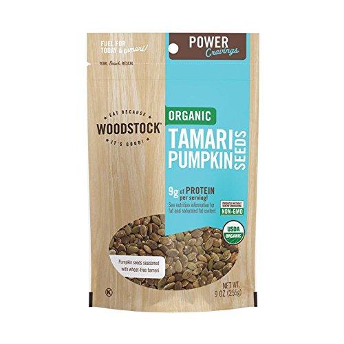 - Woodstock Farms, Organic Tamari Pumpkin Seeds, 9 oz