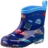 Tookang Unisex Bambini Leggeri Scarpe Stivali da Pioggia Stivale di Gomma Rain Boot Stivaletti da Pioggia