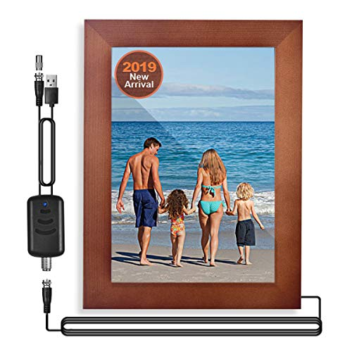 Oratec 2 in 1 Photo Frame Indoor HD Digital TV Antenna Amplified 4K/ 1080P Local Broadcast Signal 85 Miles Range, Stable Signal OTA Antennas for All HDTVs, Retro Elegant Frame Style for 7 inch Photos (Picture Frame Retro Tv)
