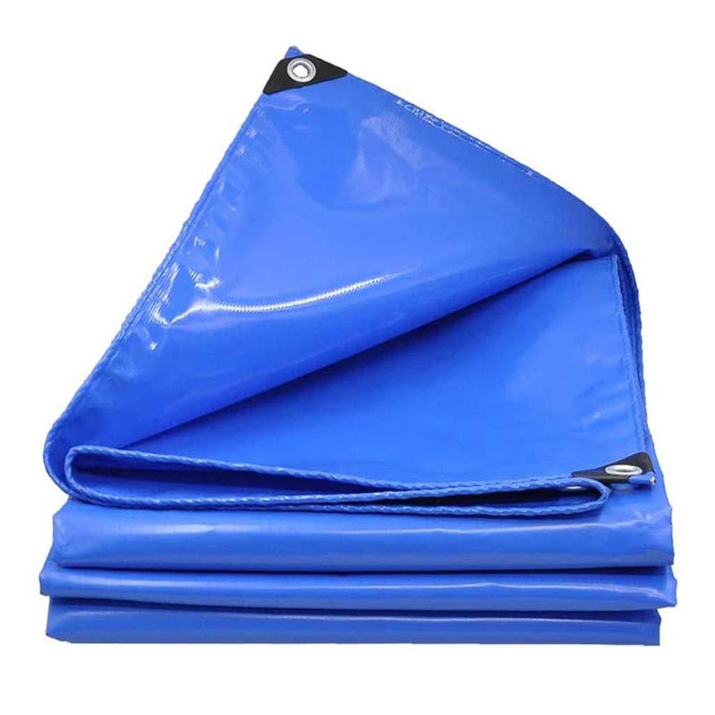 ターポリン アイレットが付いている頑丈なポリ塩化ビニールの防水シート、防水日焼け止めシートの防水シート、耐リッピング性の雨よけの布 - 600g / mの²、青 (Size : 3mx6m) B07SF67V9S  3mx6m