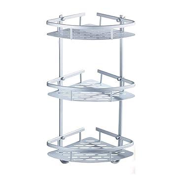 Bathroom corner storage Shelf Triangular Shower Caddy Shelf Tool-Free No Drill