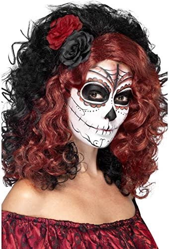 Womens Gothic Black Ringlet Curly Dead Doll Wig