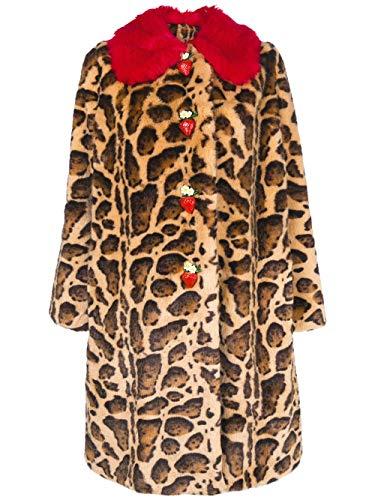 Multicolore Gabbana E F0v07ffupu8x0822 Dolce Manteau Acrylique Femme 6pO4xwq