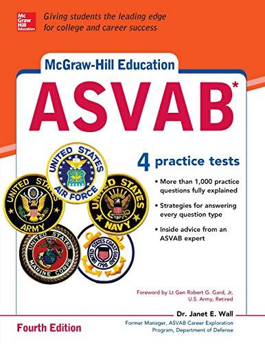Pdf Test Preparation McGraw-Hill Education ASVAB, Fourth Edition (McGraw Hill's ASVAB)