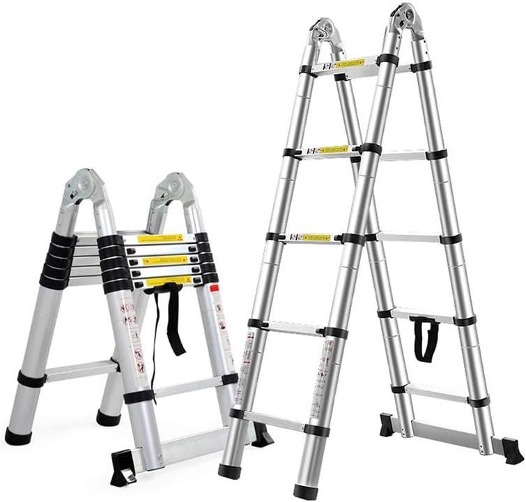ZCF Escalera telescópica Escaleras Telescópicas, Multifunción, Retráctil, Aleación de Aluminio Retráctil, Escalera Especial Escalera Telescópica Escalera de Ingeniería (Size : 1.6+1.6m): Amazon.es: Bricolaje y herramientas