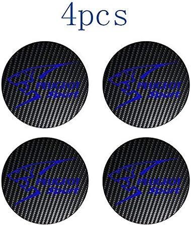 4 Piezas para Peugeot Sport 508 308 4008 3008 206 207 307 Logotipo Do Emblema de EXALTAR Bonés de Centro Jante de Liga Leve de Carbono Cubo de roda para Carros: Amazon.es: Coche y moto