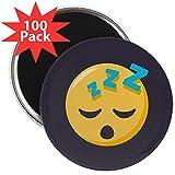 CafePress - Sleeping Emoji - 2.25'' Magnet (100 pack)