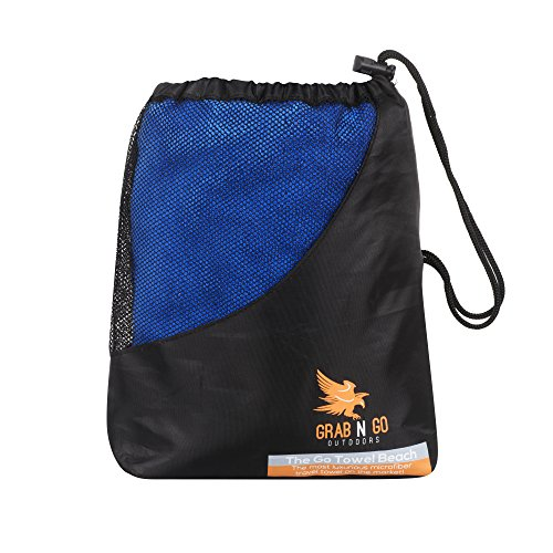 Grab N Go Outdoors GoTowel - Compact Fast Drying Microfiber Travel Towel Ideal for Camping, the Beach or the Gym. Super Absorbent and Super Soft!
