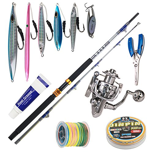 1.4 Ounce Face Oil (Himenlens A23 Deep Sea Boat Fishing Big Fish Rod and Reel Combos with 1.4-7.1oz Jigs Jigging and Line Troll All Metal Spinning Combo Max 200Lbs)