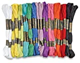 25 Hand Embroidery Thread Skeins in Most Demanding 12 Colours for Craft Projects
