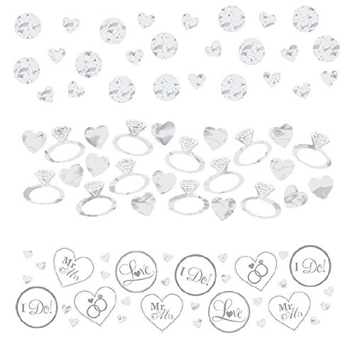 Luxurious I Do and Ring Wedding Confetti Wedding or Bridal Shower Party Decoration, Value Pack, White, 1.2 oz..