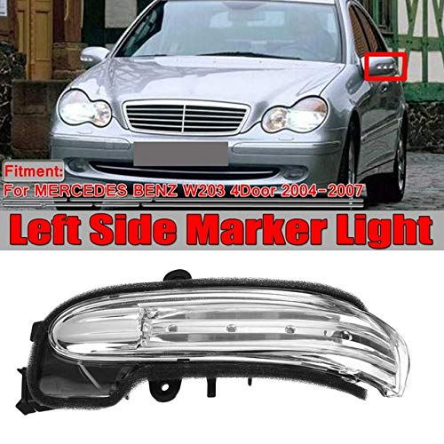 TOOGOO Car Side Marker Light Door Wing Rearview Mirror Turn Signal Indicator Side Light For Mercedes For W203 4Door 2004-2007