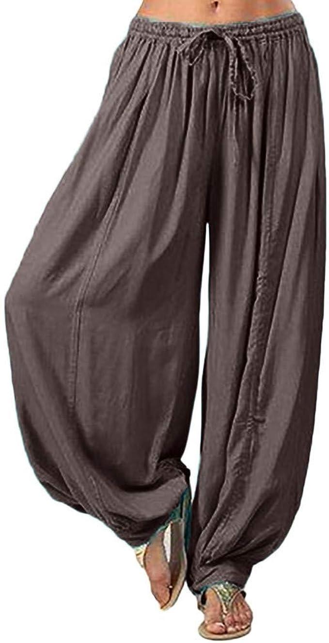 Men/'s Loose Cotton Linen Casual Pants Yoga Boho Indian Jogging Harem Trousers US