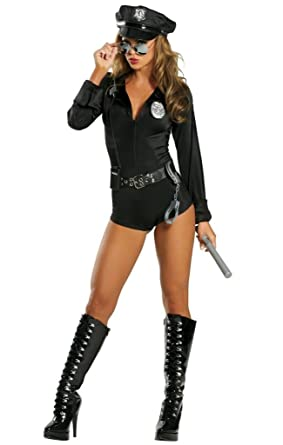 e8559e8af54d Amazon.com  Sexy Police Romper Halloween Costume  Clothing