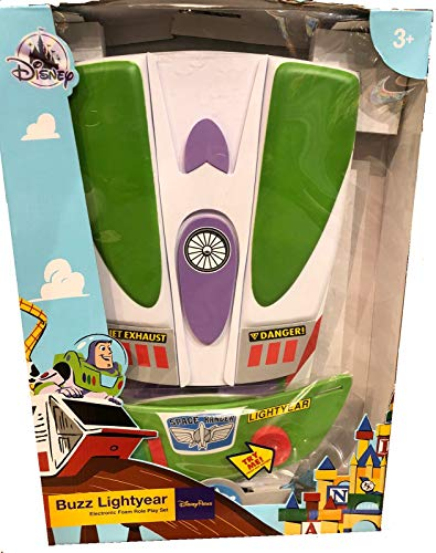 Dis Toy Story Buzz Lightyear Electronic Foam Role Play Set - Gauntlets, Belt, Chest Plate, and Backpack with Pop-Out Wings