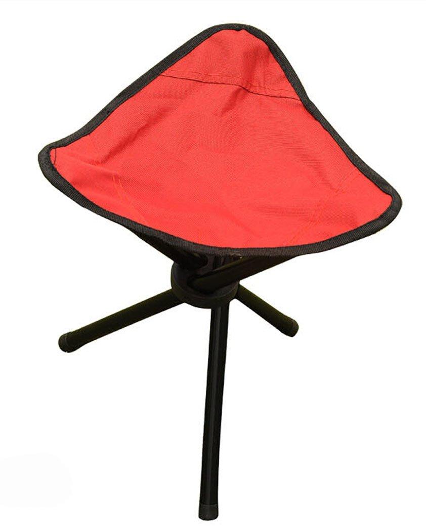 boutique1583アウトドアハイキング釣りFolding Stoolポータブル三角形椅子 B00RGGTMX2 レッド レッド