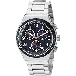 Swatch Men's 'Swatchour' Quartz Stainless Steel Automatic Watch, Color:Silver-Toned (Model: YVS426G)