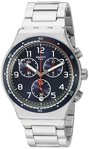 Swatch Men's 'Swatchour' Quartz Stainless Steel Watch, Color:Silver-Toned (Model: - Swatch Men For