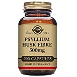 Solgar - Psyllium Husks Fiber 500 mg, 200 Vegetable Capsules