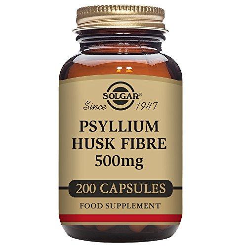 Solgar - Psyllium Husks Fiber 500 mg, 200 Vegetable Capsules by Solgar