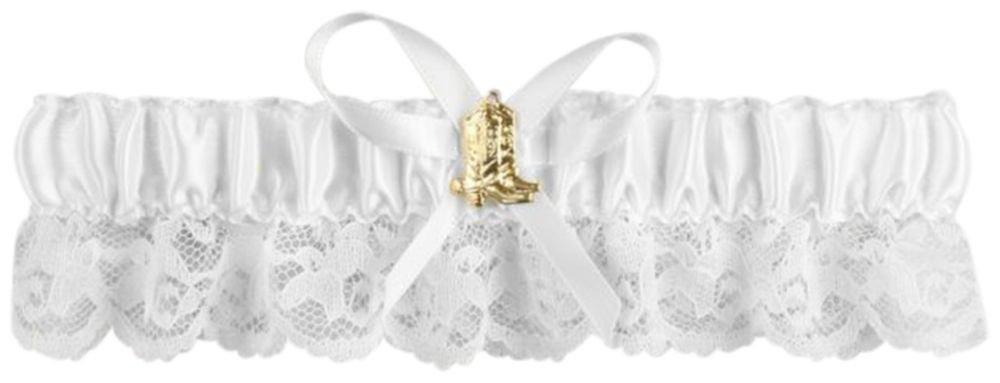 David's Bridal Cowboy Boot Garter Style 30-2215, White