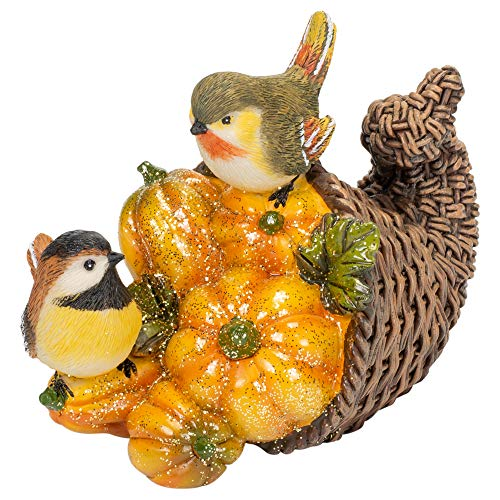 (Delton Products Bird Cornucopia 6.1 Inches x 4.7 Inches Resin Collectible Figurines)
