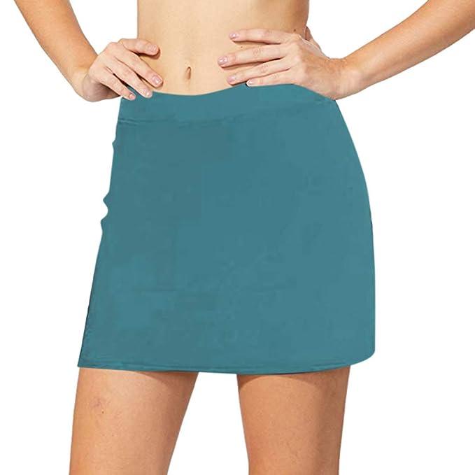 SUCES - Pantalones Cortos de Deporte 2 en 1 para Mujer, monocromos ...