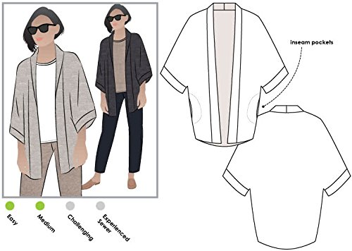 Style Arc Sewing Pattern - Besharl Jacket (Sizes 04-16) - Click for Other Sizes Available ()