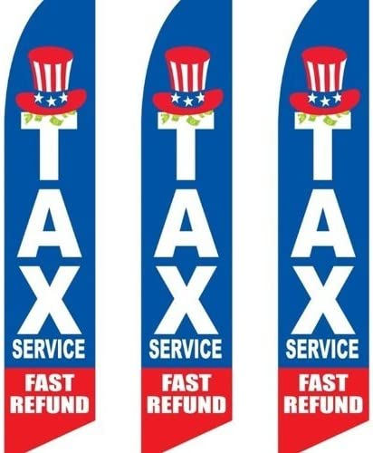 WE CASH CHECKS Convenience Swooper Banner Feather Flutter Tall Curved Top Flag