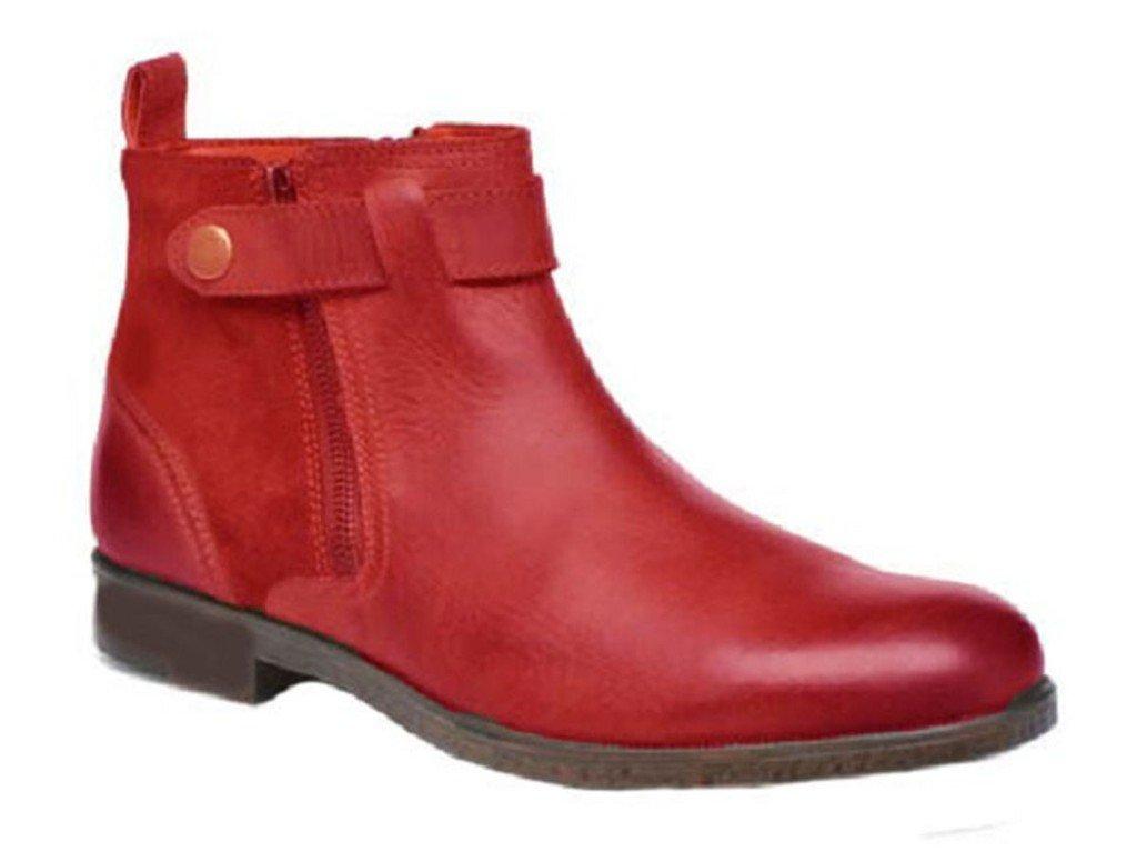 11sunshop Schuhe Lederstiefel Modell Tristan von HGilliane Design Im 33 46 Red