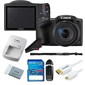 Canon Digital Camera PowerShot SX420 IS w/ 42x Optical Zoom + 16 GB Pixibytes Starter Kit - International Version