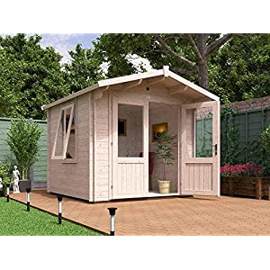 Dunster House Log Cabin With Toughened Glass 2.5m x 2.5m
