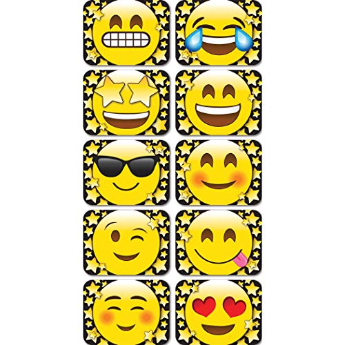 "Ashley Productions ASH78101 Magnetic Mini Whiteboard Erasers, 2"" x 1.5"" x .75, Emoji Stars (Pack of 10)"