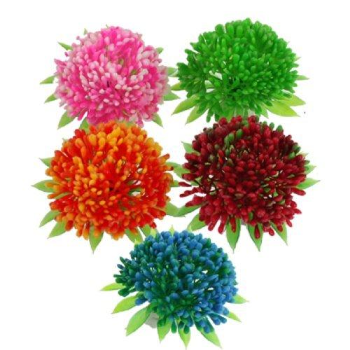 eDealMax Jardin poissons en Plastique Aménagement paysager réservoir balle plantes à Fleurs, 5 pièces, coloré