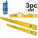 STABILA LEVEL 29924 - 80A-2M Magnetic Pro Set (Includes 2' & 4' Levels & Torpedo Level)