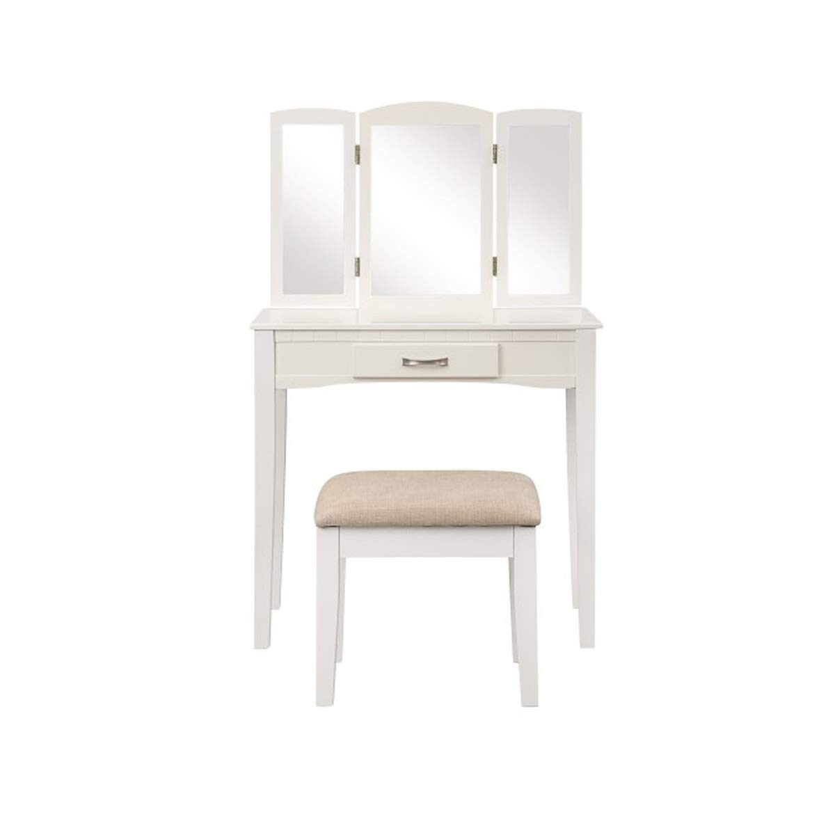 HXSD Dressing Table, Dressing Table, Mirror and Cushion Bench (White) ( Color : White )