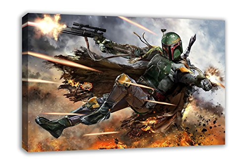 BOBA FETT STAR WARS VII THE FORCE AWAKENS CANVAS WALL ART (44
