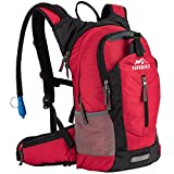 RUPUMPACK Insulated Hydration Backpack Pack with 2.5L BPA Free Bladder, Lightweight Daypack Water Backpack for Hiking Running Cycling Camping, School Commuter, Fits Men, Women, Kids, 18L Red