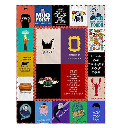 DesDirect Store Friends Blanket - We were On a Break Moo Point They Don't Know That We Know They Know We Know Pivot Cozy Plush Fleece Blanket One Size/White