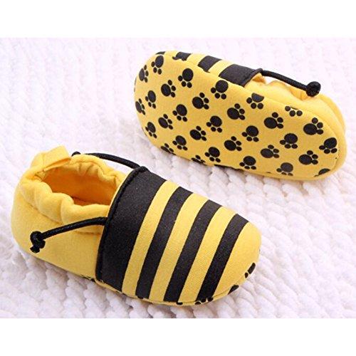 Highdas Baby-Kleinkind-Schuhe - Baumwolle / Anti-slip / Elastic Band / Soft Bottom Gelb