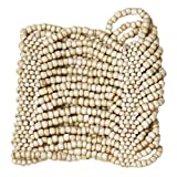 Curious Designs Cuff Bracelet - Beaded Stretch Style, Natural Tones