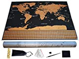 Premium Scratch Off World Travel Map – Large High Quality Easy Scratch Wall