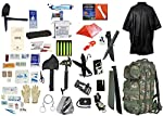 2 Person Supply 3 Day Emergency Bug Out S.O.S. Food Rations, Drinking Water, LifeStraw Personal Filter, First Aid Kit, Tent, Blanket, Woodland Backpack, Poncho + Essential 21 Piece Survival Gear Set