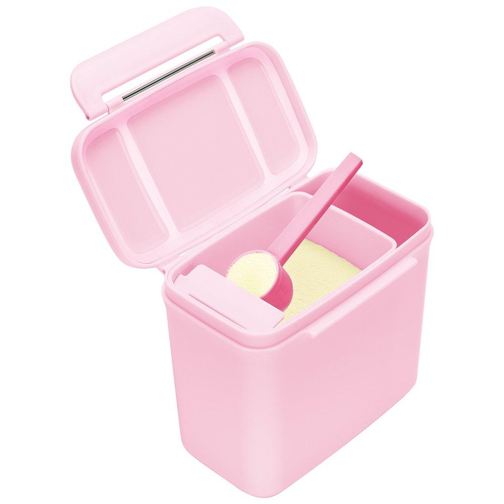 Formula Dispenser - Ankou Portable Formula Powder Dispenser with Leveller - BPA Free Airtight Milk Powder Pot Box - Food Storage Container (Green 600ML)