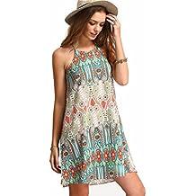 ☀Hot Sale Women Summer Dress Women Retro National Wind Loose Round Neck Sling Sleeveless Dress-Todaies
